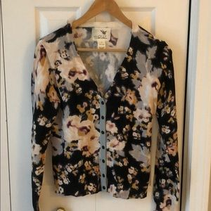 Anthropologie Tabitha Floral Cardigan